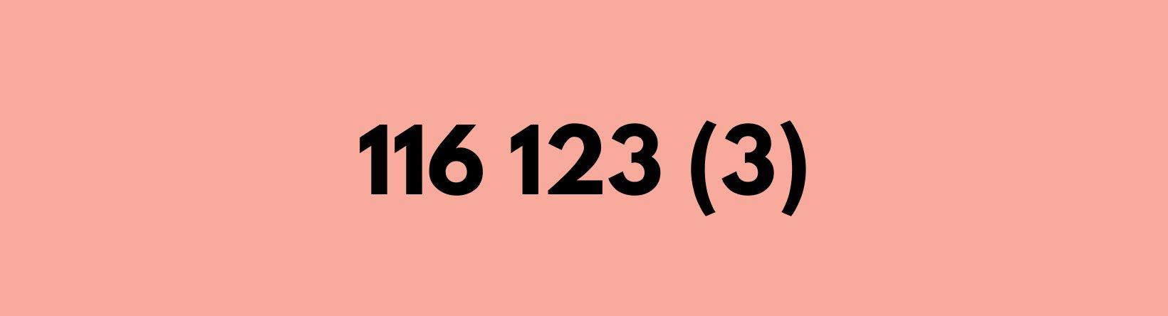 116 123 3 2